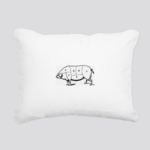 Pig Parts in Numbers Rectangular Canvas Pillow