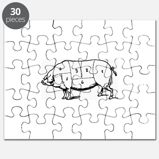 Pig Parts in Numbers Puzzle