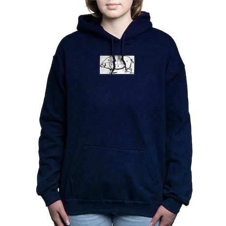 Pig Parts in Numbers Women's Hooded Sweatshirt