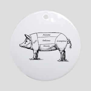 Tasty Pig Ornament (Round)
