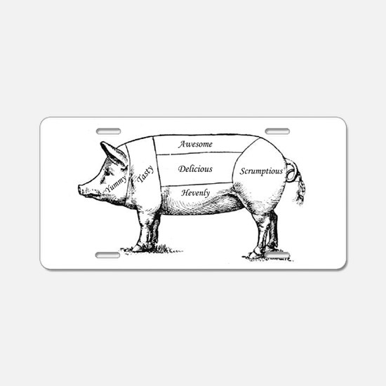 Tasty Pig Aluminum License Plate