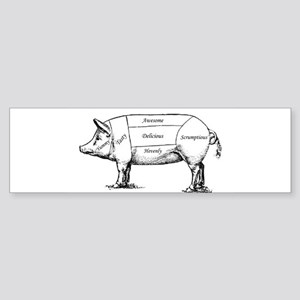 Tasty Pig Bumper Sticker