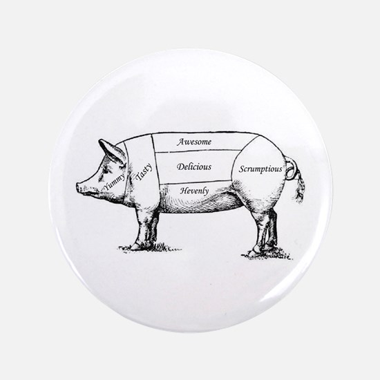 """Tasty Pig 3.5"""" Button (100 pack)"""