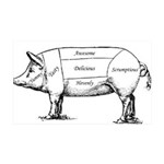 Tasty Pig Wall Decal