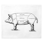 Tasty Pig King Duvet
