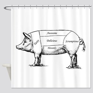 Tasty Pig Shower Curtain