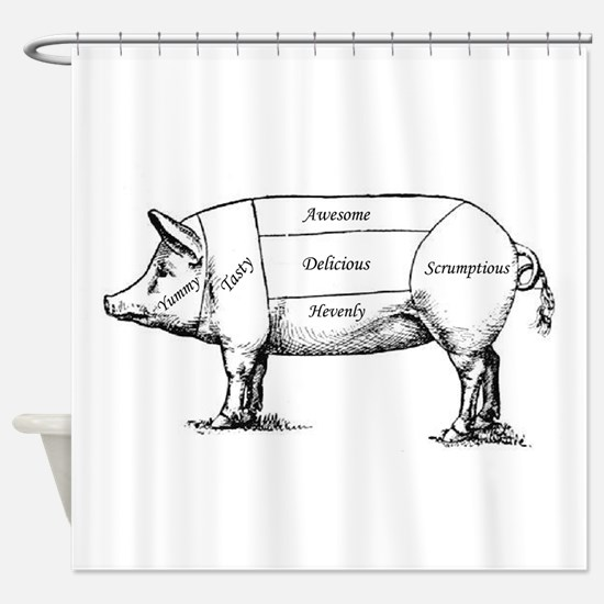 Tasty Pig Shower Curtain
