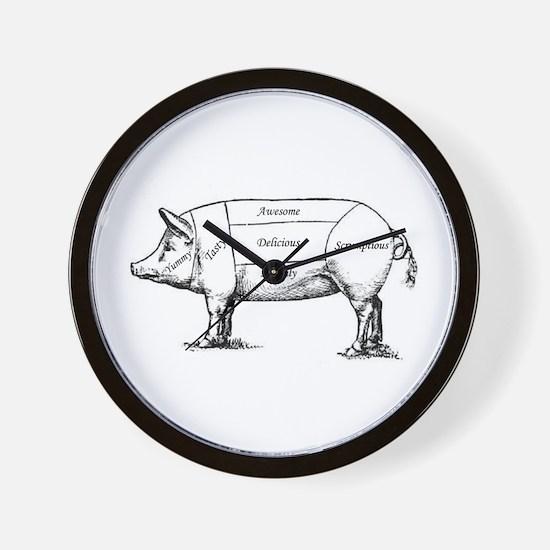 Tasty Pig Wall Clock