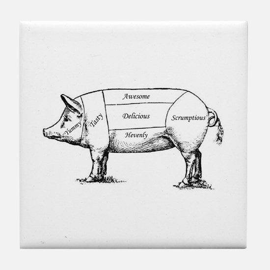 Tasty Pig Tile Coaster