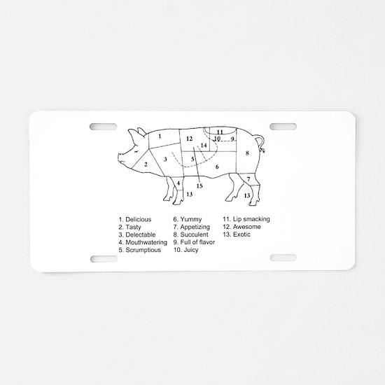 Delicious List Aluminum License Plate