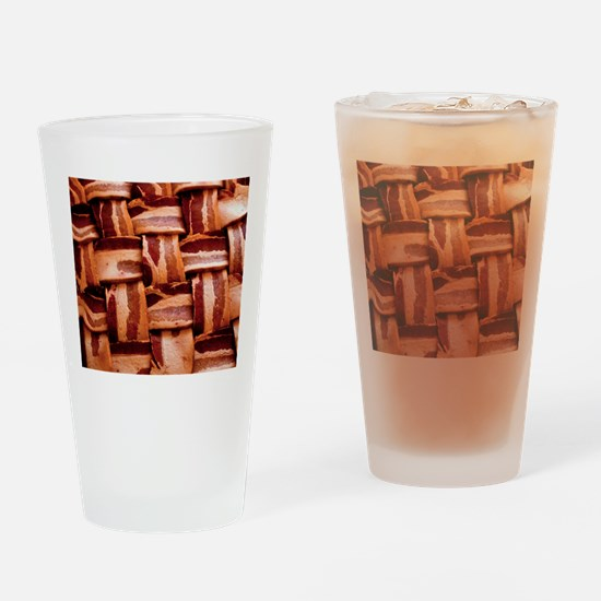 Bacon weave Drinking Glass
