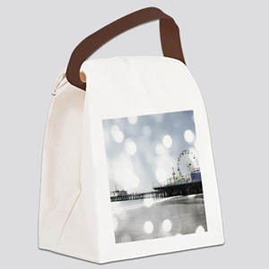 Grey Sparkling Pier Canvas Lunch Bag