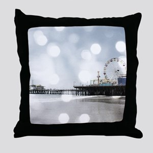 Grey Sparkling Pier Throw Pillow