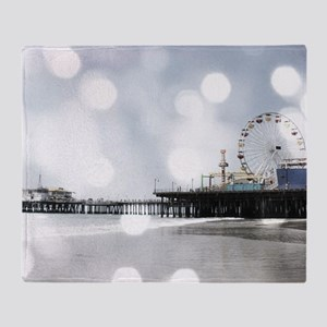 Grey Sparkling Pier Throw Blanket