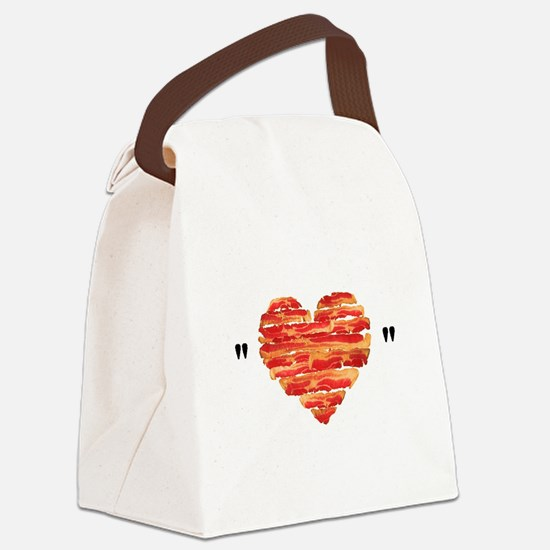 Bacon Quote Canvas Lunch Bag