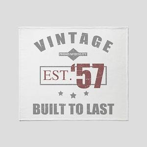 Vintage 1957 Birth Year Throw Blanket