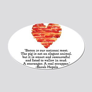Sarah Hepola Quote about Bacon Wall Decal