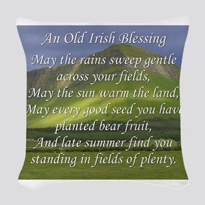 Old Irish Blessing #5 Woven Throw Pillow