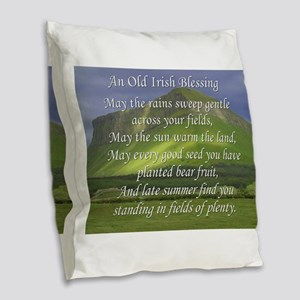 Old Irish Blessing #5 Burlap Throw Pillow