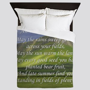 Old Irish Blessing #5 Queen Duvet
