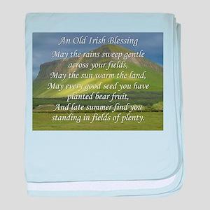 Old Irish Blessing #5 baby blanket