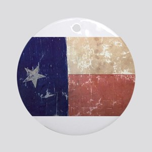 Texas State Flag Ornament (Round)
