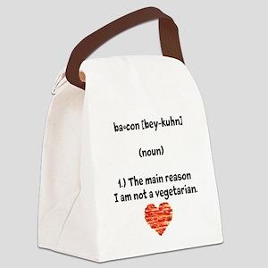 Bacon Def 2 Canvas Lunch Bag