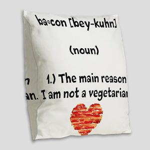 Bacon Def 2 Burlap Throw Pillow