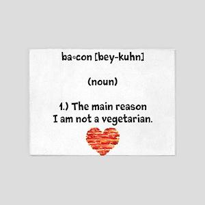 Bacon Def 2 5'x7'Area Rug