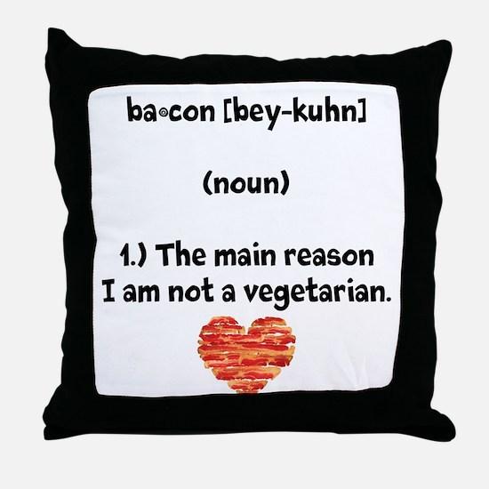 Bacon Def 2 Throw Pillow