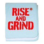 Rise And Grind baby blanket
