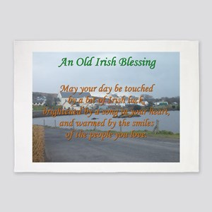 Old Irish Blessing #4 5'x7'Area Rug