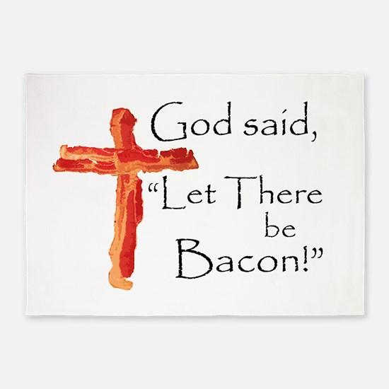 Let there be bacon 5'x7'Area Rug