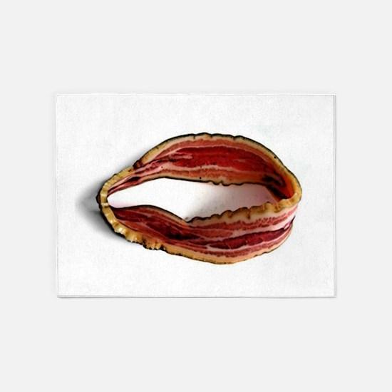 Möbius Bacon Strip 5'x7'Area Rug