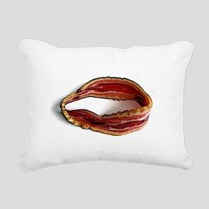 Möbius Bacon Strip Rectangular Canvas Pillow