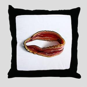 Möbius Bacon Strip Throw Pillow