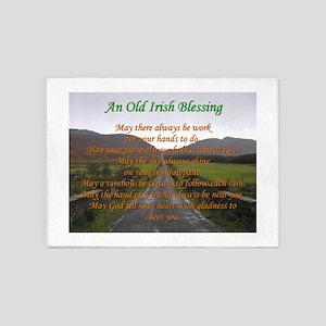 Old Irish Blessing #3 5'x7'Area Rug