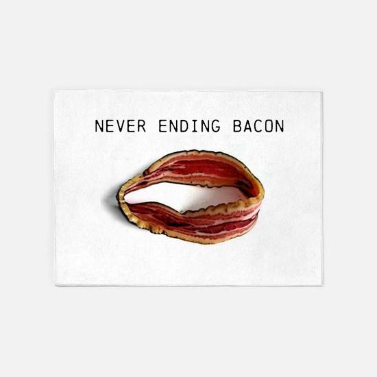 Never ending bacon 5'x7'Area Rug