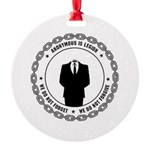 anonymoussealwithchain Ornament