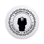 anonymoussealwithchain Ornament (Round)