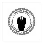 anonymoussealwithchain Square Car Magnet 3