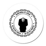 anonymoussealwithchain Round Car Magnet