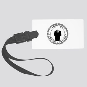 anonymoussealwithchain Luggage Tag