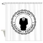 anonymoussealwithchain Shower Curtain