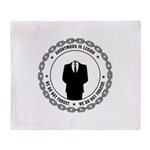 anonymoussealwithchain Throw Blanket