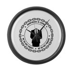 anonymoussealwithchain Large Wall Clock