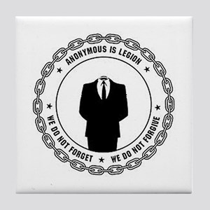 anonymoussealwithchain Tile Coaster