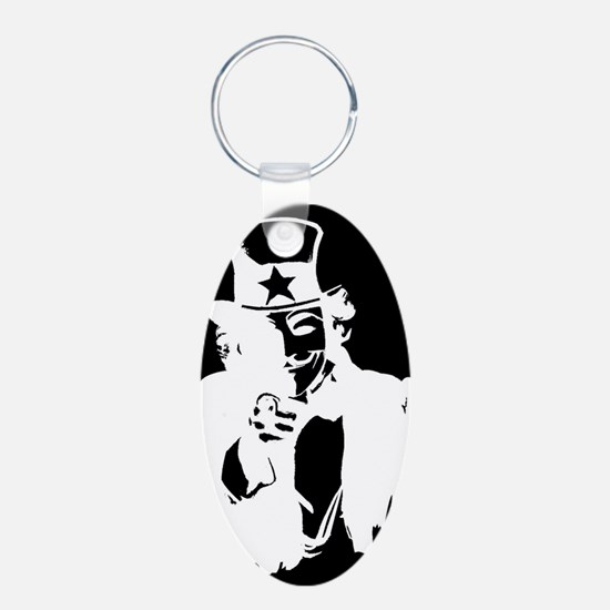 Guy Fawkes as Uncle Sam Inverted Keychains