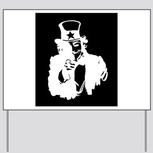 Guy Fawkes as Uncle Sam Inverted Yard Sign