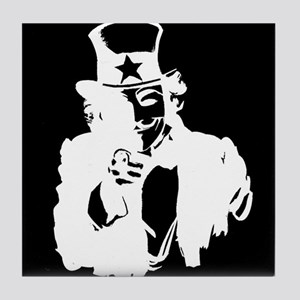 Guy Fawkes as Uncle Sam Inverted Tile Coaster